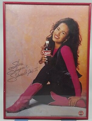 Original 1995 Selena Quintanilla Coca Cola Coke Rare Advertisement Poster