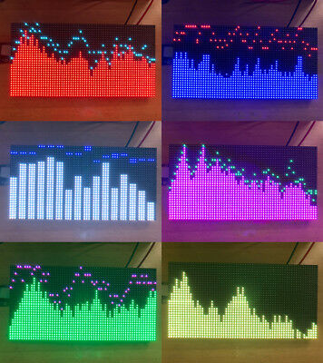 AS3264 full color RGB music spectrum display screen finished 50 mode 32*16CM