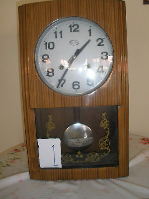 2 vintage  wall clock 1960s