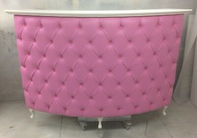 Large Curved Reception Desk-Retail Cash desk with Padded front