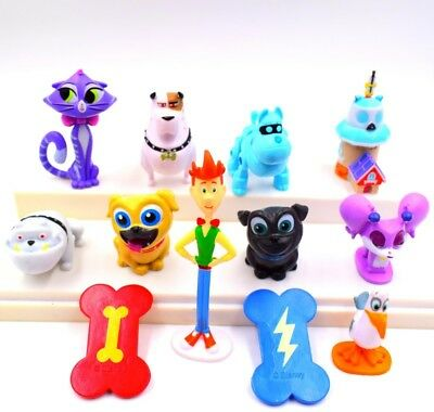 Puppy Dog Pals Cake Toppers Set Of 12 Figures Toy Animal Figure Doll