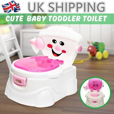 2 in 1 Toddler Potty Training Seat Baby Kids Fun Toilet Trainer Chair UK