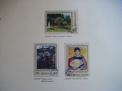 Set of 3  stamps.RUSSIA CCCP.Museum Paintings.Issued 1973