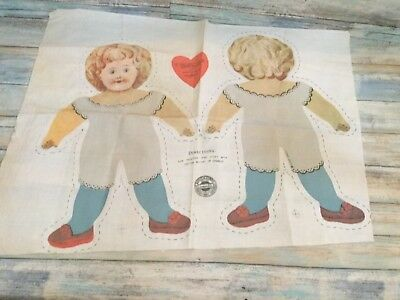 """Vintage """"Exact Replica Of The First Commercial Stuffed Doll In America"""" Pattern"""