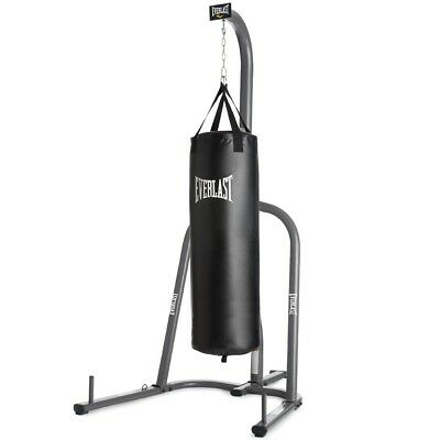 Everlast Boxing Mma Heavy Hanging Punch Bag Stand With 4ft
