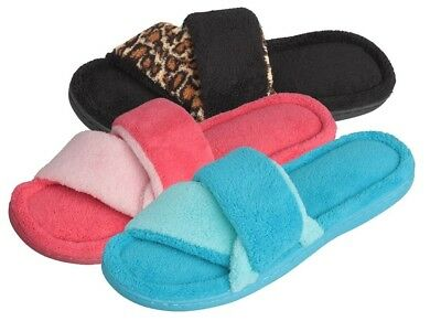 Wholesale Lot of 36prs WOMENS PLUSH SLIPPER CRISS CROSS THONG, Only $2.00 ea pr