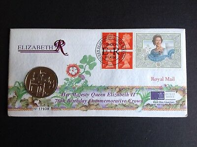 1996 ROYAL MAIL 'Queen Elizabeth II' 70th Birthday COMMEMORATIVE Crown PNC