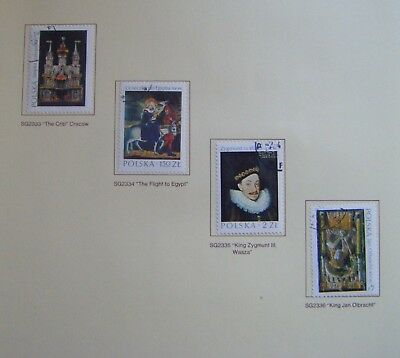 Set of 4 stamps.POLAND. Polish Art. Issued 1974