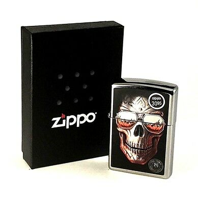 BRAND-NEW Zippo Anne Stokes Skull Sunglasses Windproof Lighter In Box, # 29108