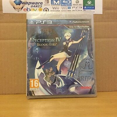 Deception IV Blood Ties PS3 Playstation 3 NEW SEALED Road Express