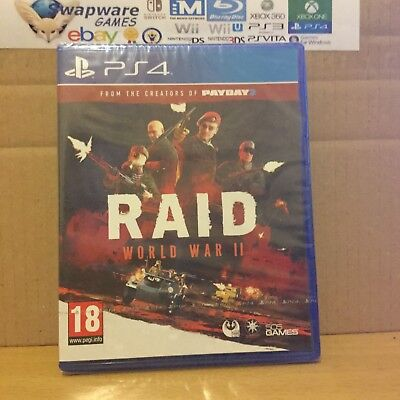 Raid World War II PS4 Game PAL New & Sealed +Courier Delivery