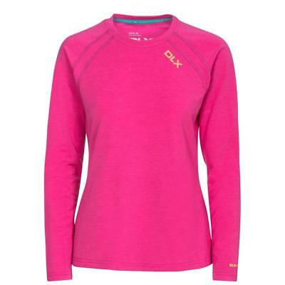 Trespass Womens Cali DLX Active  Long Sleeve T-shirt Fuchsia UK Size 12