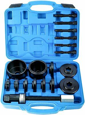 19PC Front Wheel Drive Hub Bearing Removal Kit Press Adapter Puller Remover Tool