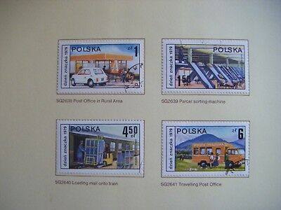 Set of 6 stamps.POLAND Stamp Day. Issued 1979