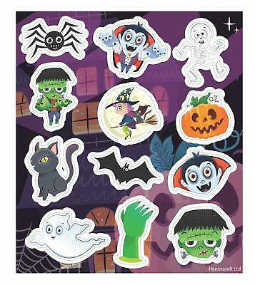 72 Halloween Stickers (6 Sheets of 12 Stickers) Children's Party Bag Fillers