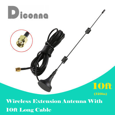 Diconna 3M 10ft WiFi Antenna Extension Cable Cord for Wireless Security Camera