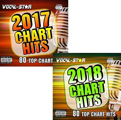 2018 & 2017 Karaoke Pop Chart Hits 160 Songs Cdg Cd+G 8 Discs -Vocal-Star Bundle