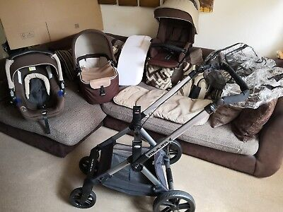 Stunning JANE MUUM UNISEX TRAVEL SYSTEM 3-IN-1 WITH LOTS EXTRAS CAN POST TO EU