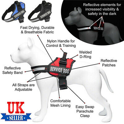 K9 Strong Adjustable Power Harness Reflective Pet Dog Puppy Robust Harnesses UK