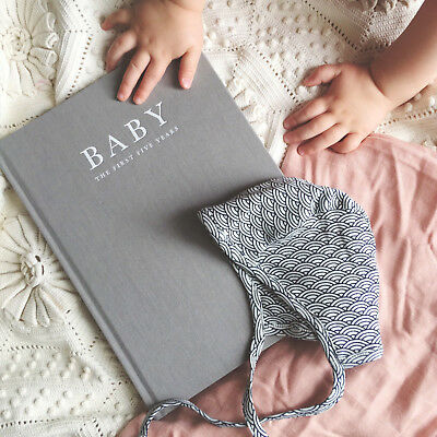 NEW Write To Me Baby Journal Record Book Diary Memory Girls Keepsake Grey Birth