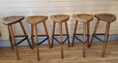 Industrial Continental Style Stools Bar Pub Cafe Breakfast Restaurant Iron Retro