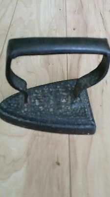 Pressing Iron Authentic History Attached Antique 17-1800s Cast Iron EUC New York