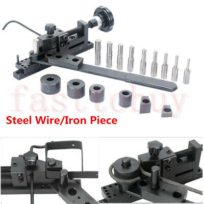 Bar Tube Pipe Bender Manual DIY Bending Metal Machine Curved Wire Steel Plate