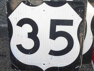 """Retired Us 35  Aluminum  Sign ,about 24"""": X 24"""","""