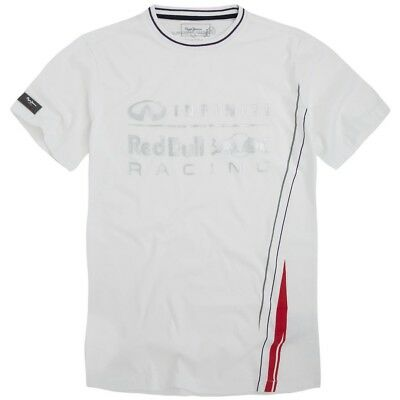T-SHIRT Infiniti Red Bull Racing Formula One 1 F1 Pepe NEW! White & Silver