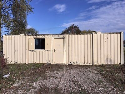 Site Office Cabin Welfare Canteen Portable Steel Building 32ft x 10ft