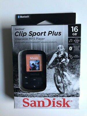 SanDisk Clip Sport Plus (16GB) MP3 Player Black
