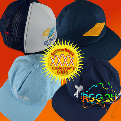 Xxxx Summer Bright Lager Beer Collectable Caps Snapback Trucker Caps Qld Stock