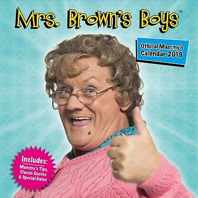 Official 2019 Mrs Brown's Boys Square Calendar Gift Present Wall Hanging