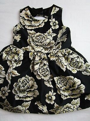Toddler Girl 4T Black Gold floral party dress THE CHILDREN'S PLACE Christmas