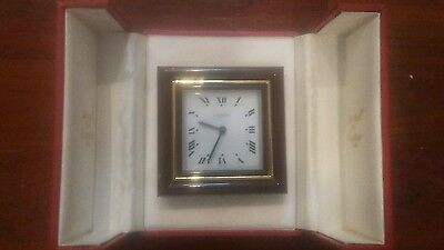 CARTIER Roman Dial Manual Wind Travel Alarm Clock Vintage