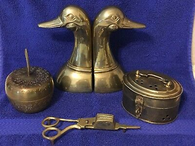 Mixed Lot of 4 Vintage Solid Brass Items