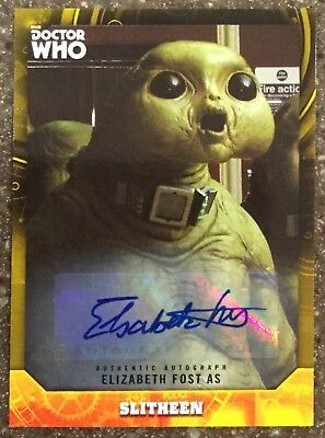 2017 Doctor Who Signature Series Elizabeth Fost as Slitheen Yellow #'d to 25