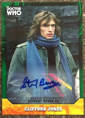 2017 Doctor Who Signature Series Stewart Bevan as Clifford Jones Green #'d to 50