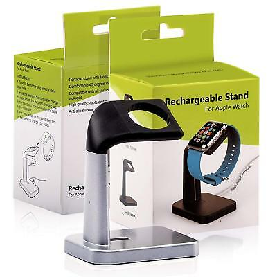 iWatch Stand, Holder Dock for Apple Watch Charger Series 38/42mm Silver Black