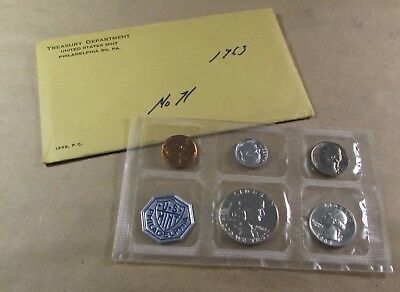 U.s.coins---U.s. Mint---1963 Proof Coin Set--Philadelphia