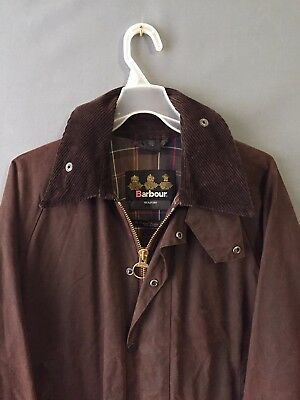 Barbour Men's Waxed Brown SMU Beaufort(Border,Bedale) Jacket Size 38