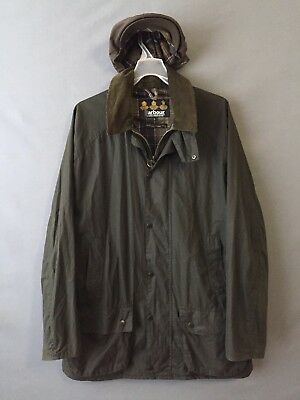 Barbour Men's Waxed Green Flyweight Beaumont (Bedale) Jacket Size L + Waxed Cap