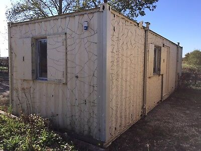32ft x10ft Site Office Cabin Canteen Welfare Unit Portable Steel Building