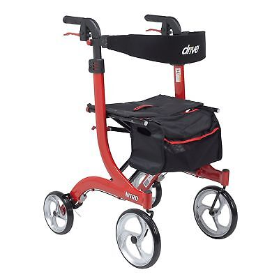 Drive Medical Nitro Rollator Folding Walker Adult 4 Wheels RTL10266-T Free Ship