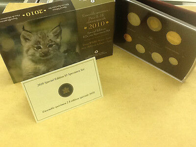 * 2010 Special Edition $2 Canada Canadian Coin Set Wildlife Lynx FREE SHIP! COA