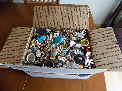 Huge 19 lbs Vintage To Now Wearable Costume Jewelry Lot Resale Wear No Junk #2