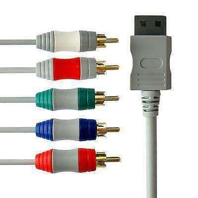HD TV Component RCA Audio Video AV Cable PVC Cord Plug for Nintendo Wii
