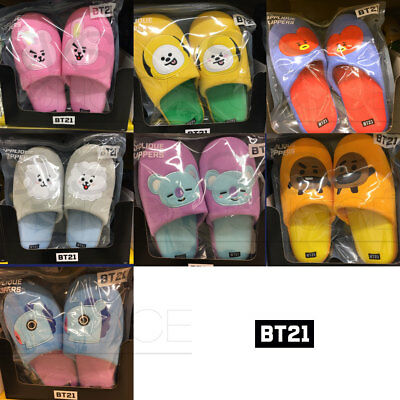 BTS BT21 Official Authentic Goods Applique Slippers by Home plus + Tracking Num