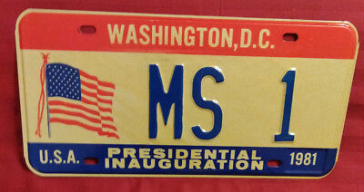 1981 District Of Columbia Ms-1 Mississippi Inaugural License Plate