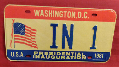 1981 District Of Columbia In-1 Indiana Inaugural License Plate